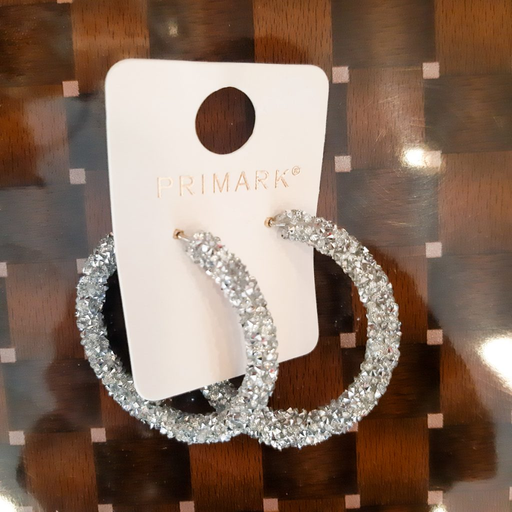 4f5a949fe0ed5 Primark Silver Glittery Hoop Earrings