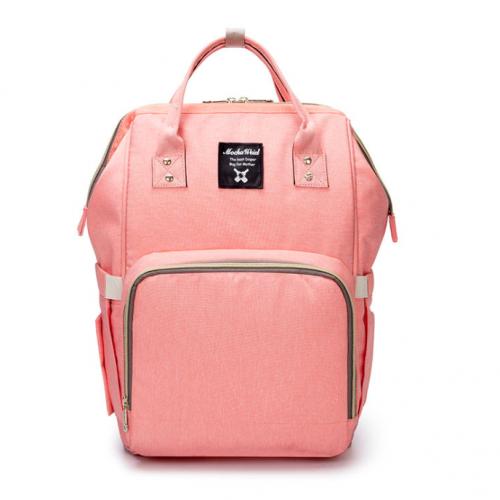 Orange Pink Moms Backpack - Multi Purpose - Canvas Material