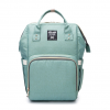 Light Green Moms Backpack - Multi Purpose - Canvas Material