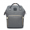 Dark Grey Moms Backpack - Multi Purpose - Canvas Material
