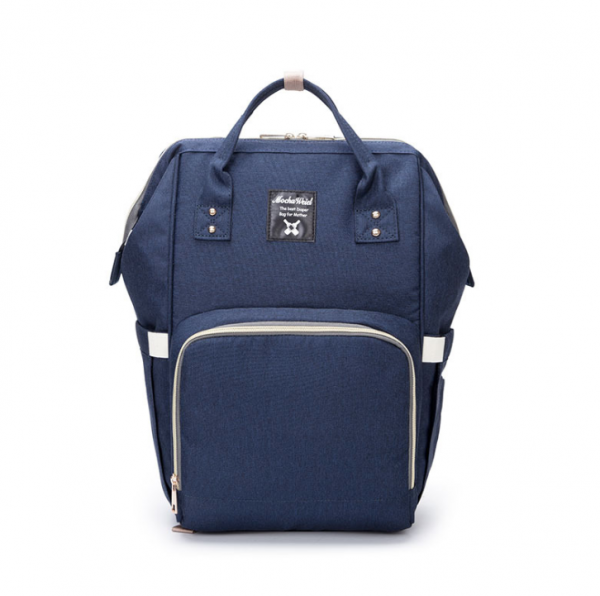 Navy Moms Backpack - Multi Purpose - Canvas Material