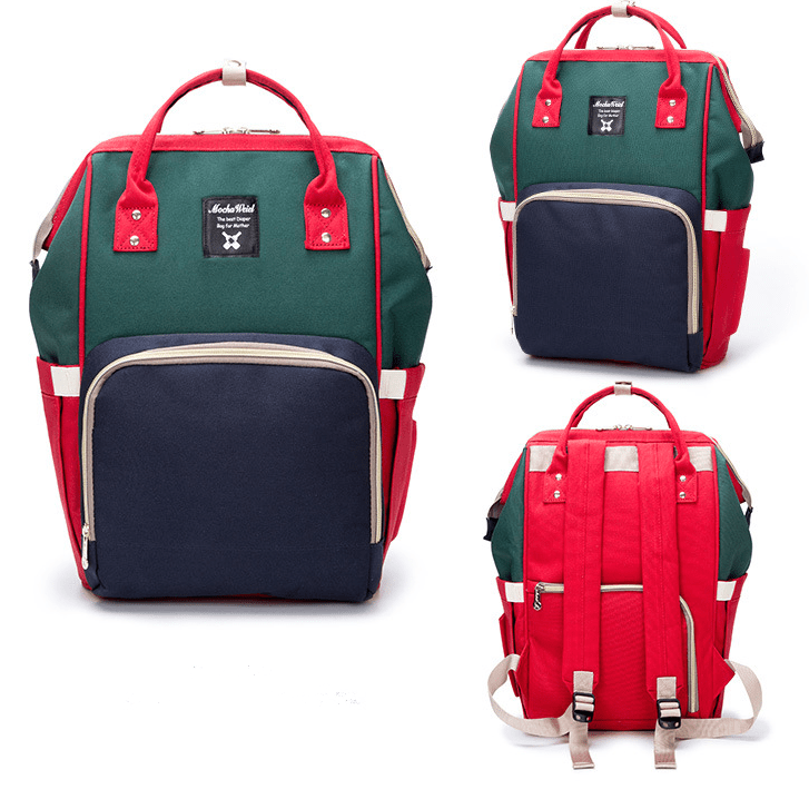 a364fa948d Red Navy Green Moms Backpack – Multi Purpose – Canvas Material ...