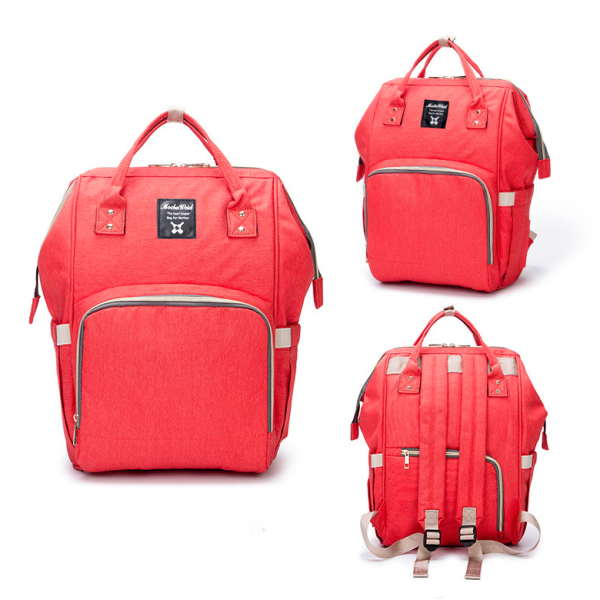 Red Moms Backpack - Multi Purpose - Canvas Material