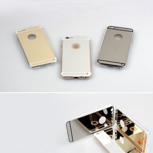 Silver Shiny Relfective Mirror Cover for iPhone - Scrtach Resistant - Soft TPU