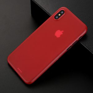 Red Matte Finish iPhone Cover - Ultra Thin - Soft TPU