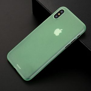 Green Matte Finish iPhone Cover - Ultra Thin - Soft TPU