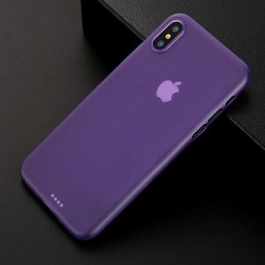 Purple Matte Finish iPhone Cover - Ultra Thin - Soft TPU