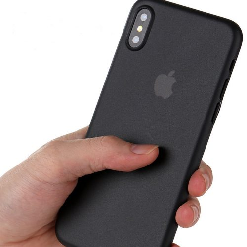 Black Matte Finish iPhone Cover - Ultra Thin - Soft TPU
