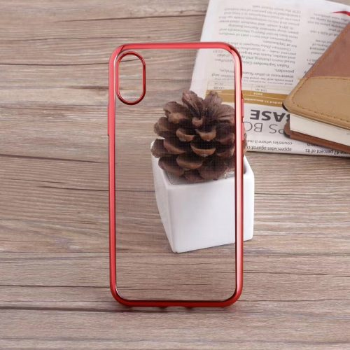 Red Glossy iPhone Transparent Case - Plated Sides - Sof TPU