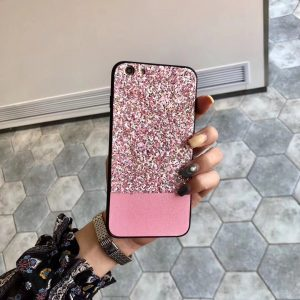 Pink Rhinestone Fashion Cover for iPhone - TPU + PC Hard/Soft Combo