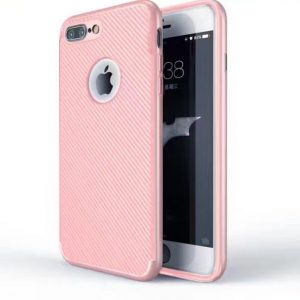 Rose Gold Matte Back Cover for iPhone - Soft TPU - With Apple Logo Hole