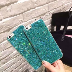 Ocean Green Glitter iPhone Case Cover - Soft TPU