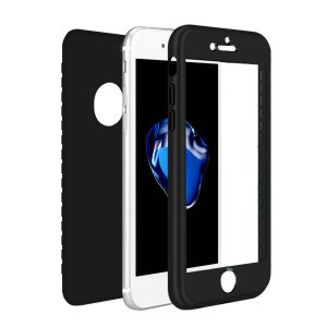 Black 360 Protection Cover for iPhone - Soft TPU - Front and Back Cover