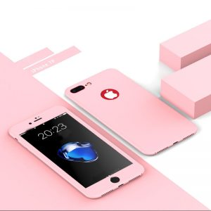 Pink 360 Protection Cover for iPhone - Soft TPU - Front and Back Cover