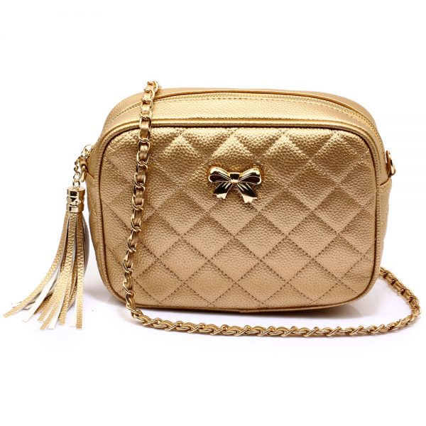 AG00540 - Gold Cross Body Shoulder Bag