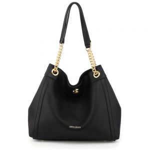 AG00561A - Black Fashion Hobo Shoulder Bag