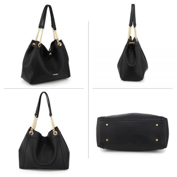 AG00561A - Black Fashion Hobo Shoulder Bag