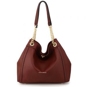 AG00561A - Burgundy Fashion Hobo Shoulder Bag
