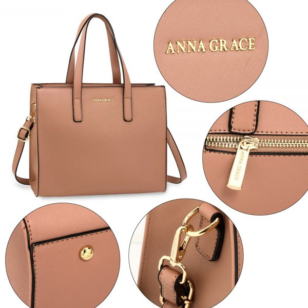 AG00592 - Nude Anna Grace Fashion Tote Bag