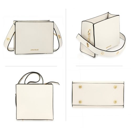 AG00596 - White Anna Grace Fashion Tote Bag