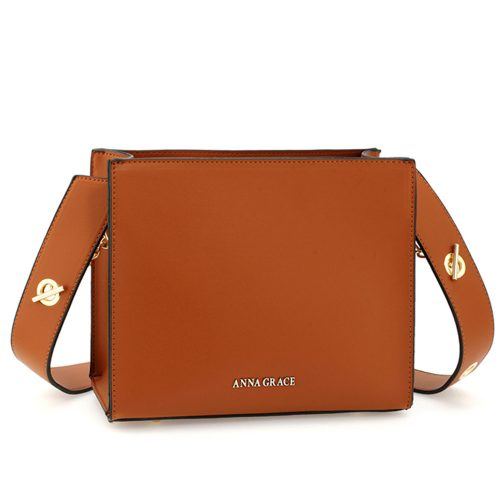 AG00596 - Brown Anna Grace Fashion Tote Bag