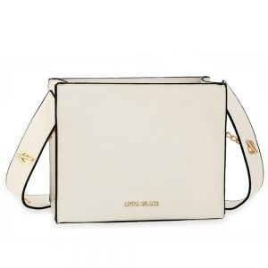 AG00596 - White Anna Grace Fashion Tote Bag
