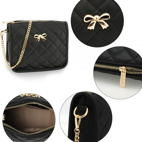 AG00598 - Black Cross Body Shoulder Bag