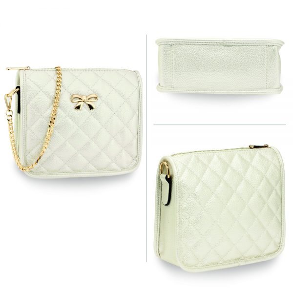 AG00598 - Ivory Cross Body Shoulder Bag