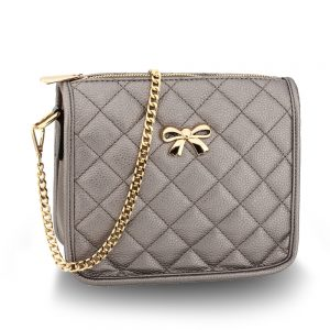 AG00598 - Grey Cross Body Shoulder Bag
