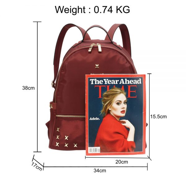 AG00599 - Burgundy Backpack Rucksack School Bag