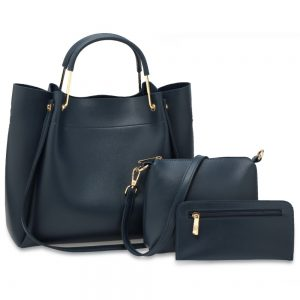 AG00610 - 3 Pieces Set Navy Women's Fashion Handbags