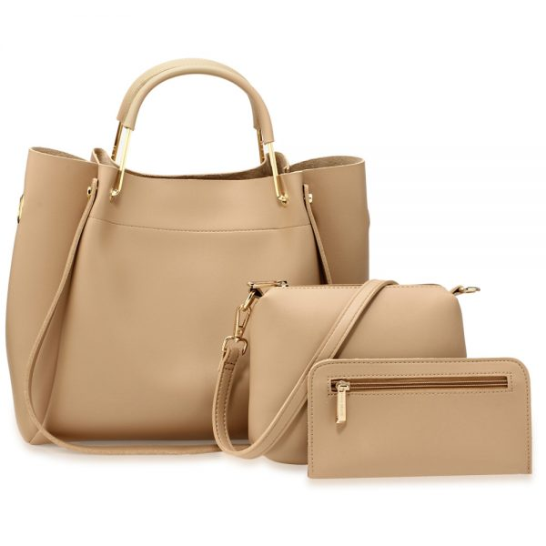 AG00610 - 3 Pieces Set Nude Women's Fashion Handbags
