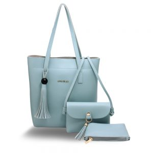 AG00612 - 3 Pieces Set Blue Women's Fashion Handbags