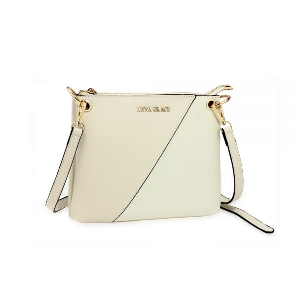 AG00616 - Beige Anna Grace Cross Body Shoulder Bag