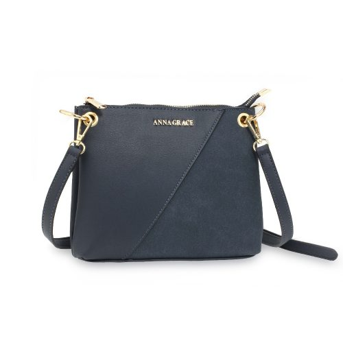 AG00616 - Navy Anna Grace Cross Body Shoulder Bag