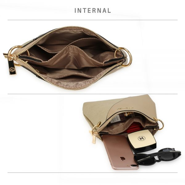 AG00616 - Nude Anna Grace Cross Body Shoulder Bag