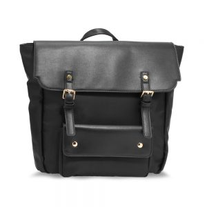 AG00617 - Black / Black Backpack Rucksack School Bag
