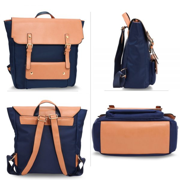 AG00617 - Navy / Nude Backpack Rucksack School Bag