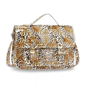 AG00672 - Brown Cheetah Design Satchel