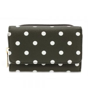 AGP1045B - Grey Polka Dot Design Purse/Wallet