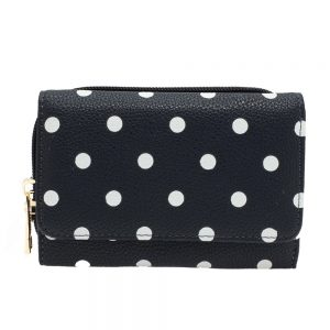AGP1045B - Navy Polka Dot Design Purse/Wallet