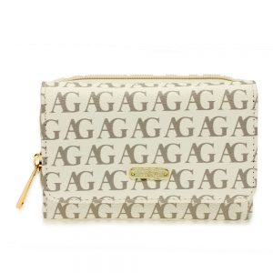 AGP1045P - White Anna Grace Design Purse/Wallet