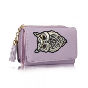 LSP1080 - Lavender Owl Design Purse/Wallet