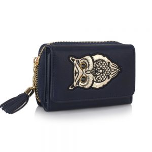 LSP1080 - Navy Owl Design Purse/Wallet