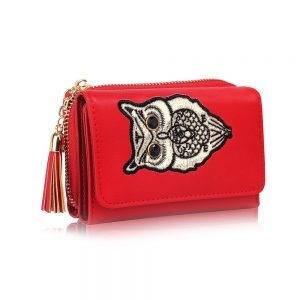 LSP1080 - Red Owl Design Purse/Wallet