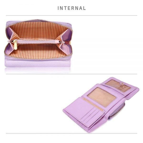 LSP1080 - Lavender Owl Design Purse/Wallet