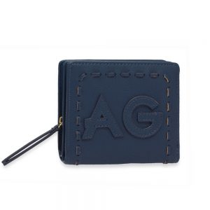 AGP1105 - Navy Anna Grace Zip Around Purse / Wallet