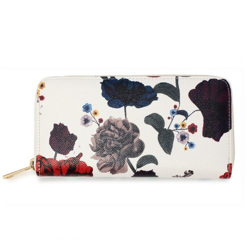 AGP1108 - Multi Floral Print Zip Around Purse / Wallet