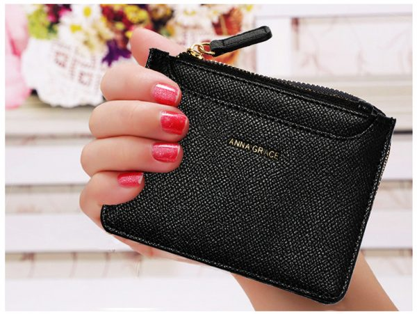 AGP1109 - Black Anna Grace Zip Coin Pouch