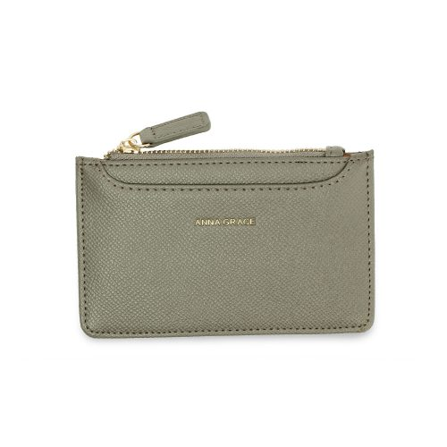 AGP1109 - Grey Anna Grace Zip Coin Pouch